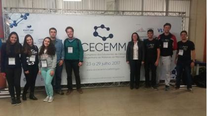 Equipe organizadora da 19ª edição do Congresso dos Estudantes de Ciências e Engenharia de Materiais do MERCOSUL (CECEMM), realizada no CEFET-MG